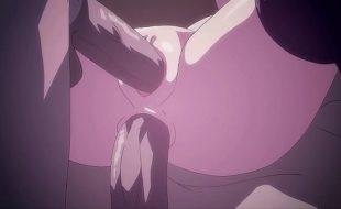 Dupla penetração brutal para jovem adolescente , Sem censura hentai