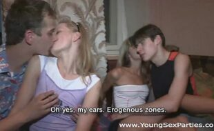 Young Sex Parties - Double gang-bang followed by Sonja Gina Gerson teen porn